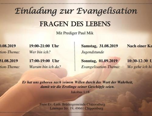 Einladung zur Evangelisation in Cloppenburg mit Paul Mik